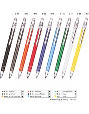 Długopis metalowy BOND z grawerem - 100 szt.