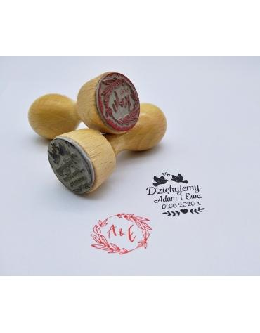 Pieczątka stempel na ślub - 25 mm