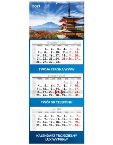 Kalendarze trójdzielne z wypukłą główką