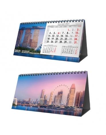 Kalendarze biurkowe spiralowane