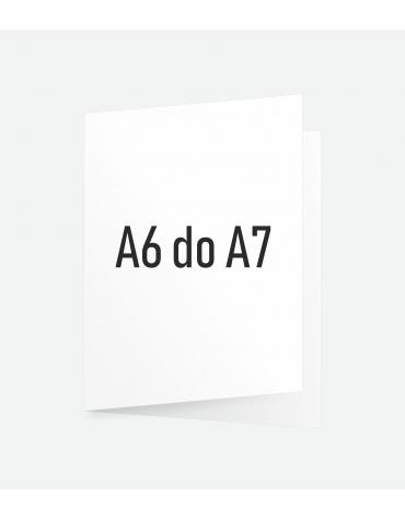 Ulotka składana A6 do A7