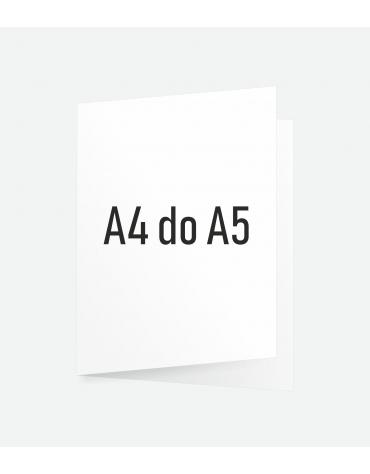 Ulotka składana A4 do A5