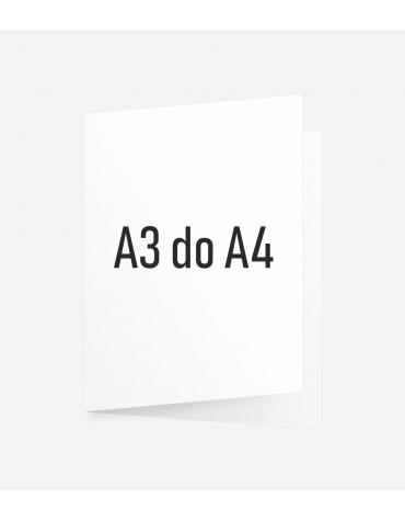 Ulotka składana A3 do A4