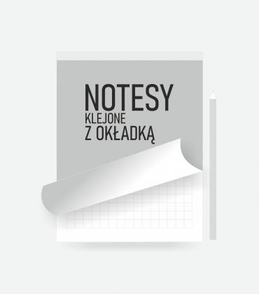 Notesy klejone z okładką